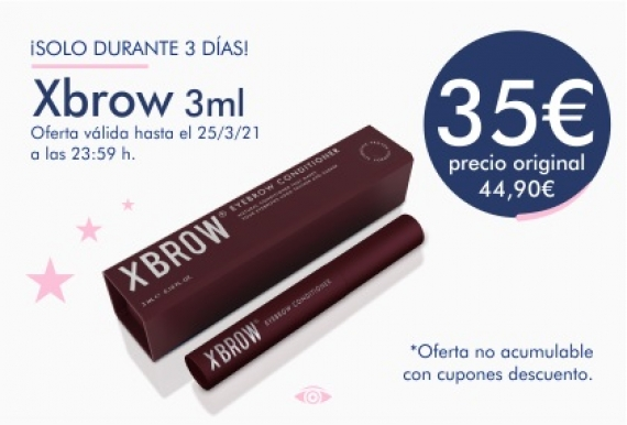 Oferta Xbrow Acondicionador de Cejas 35€ (antes 44,90€)