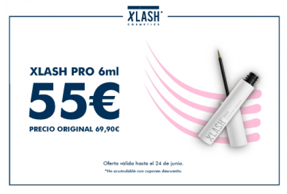 Oferta Xlash Pro 6ml serum crece pestañas ahora 55€ (antes 69,90€)